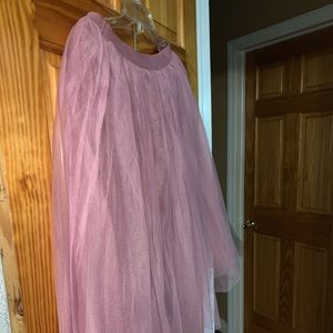Pink toole skirt